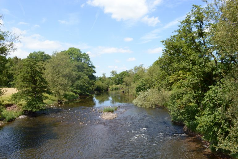 """Blick auf den """"River Usk"""""""