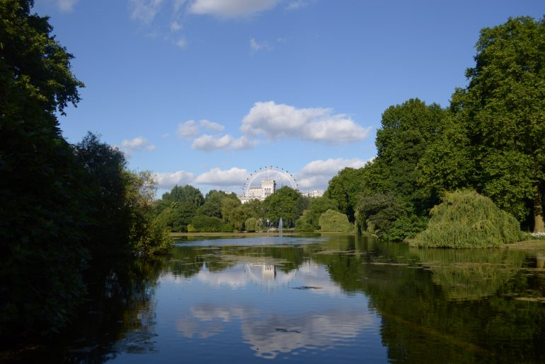 St James's Park Lake - Beginn der Rundreise