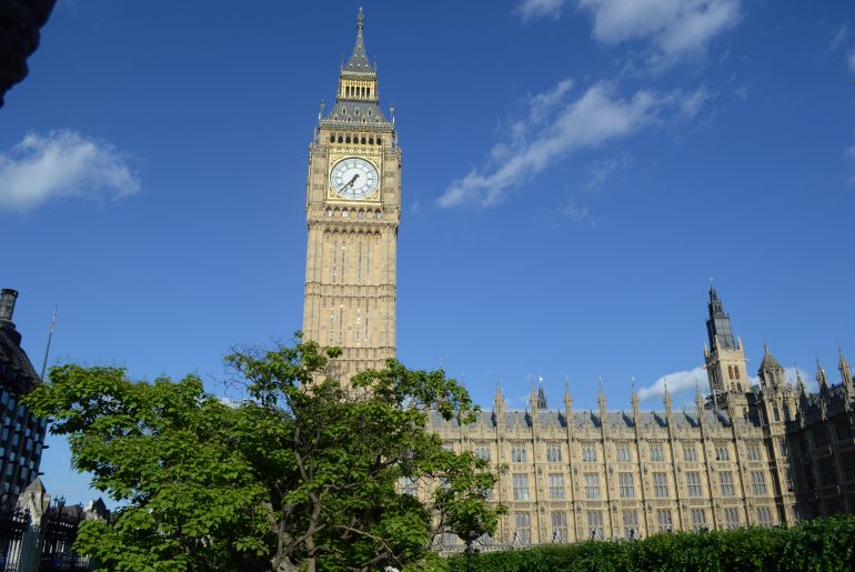 Palace of Westminster mit Big Ben in London, der Hauptstadt von England