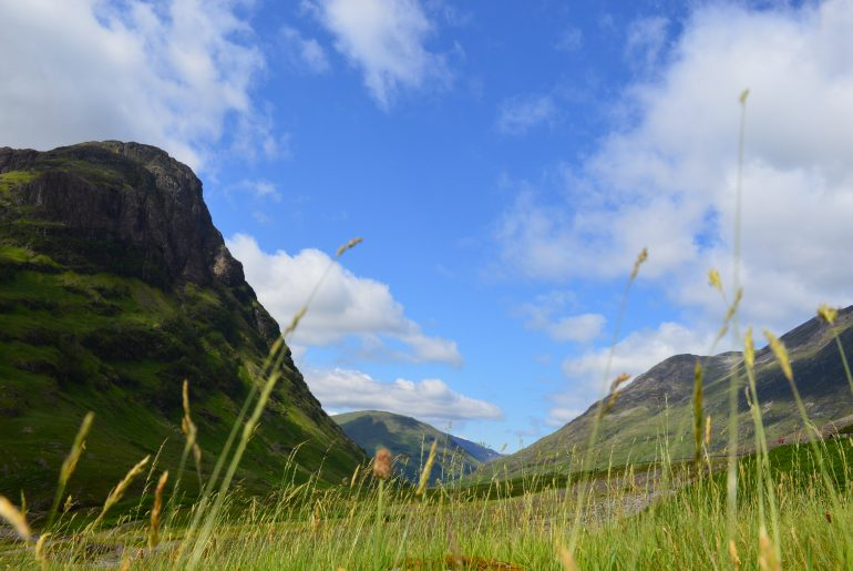 Seitenblick aus dem Glencoe