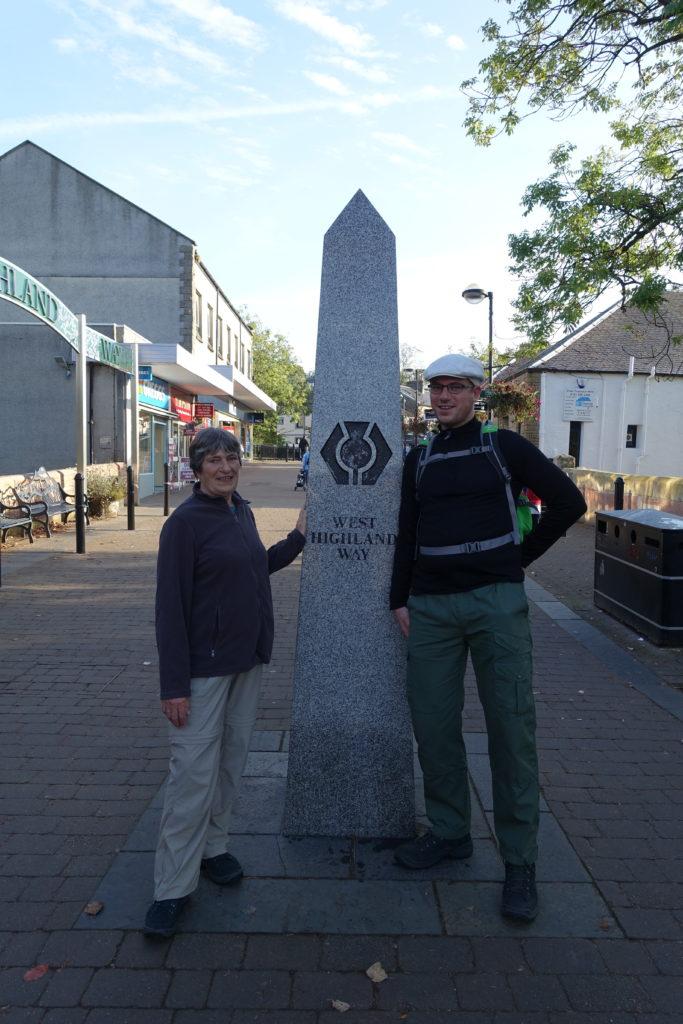 Startpunkt des West Highland Way in der Douglas Street