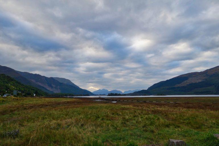 Blick von Glencoe auf Loch Leven
