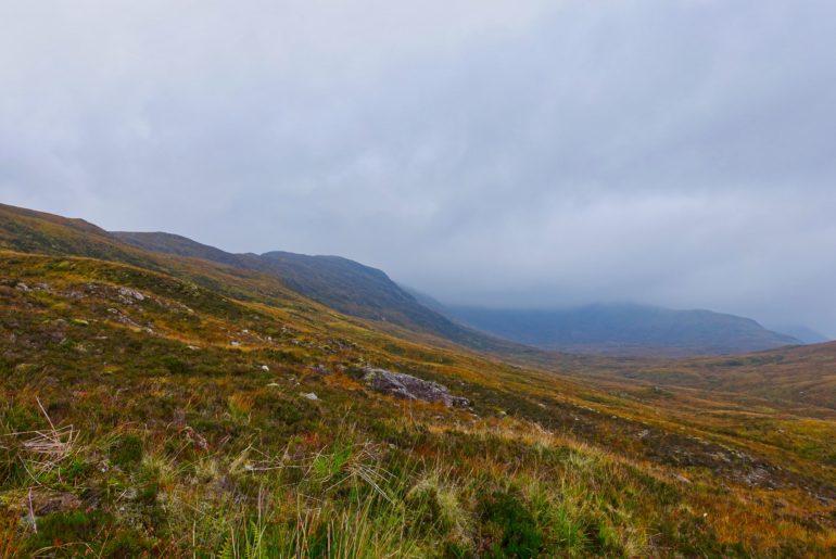 Blick über die Ben Nevis Bergkette