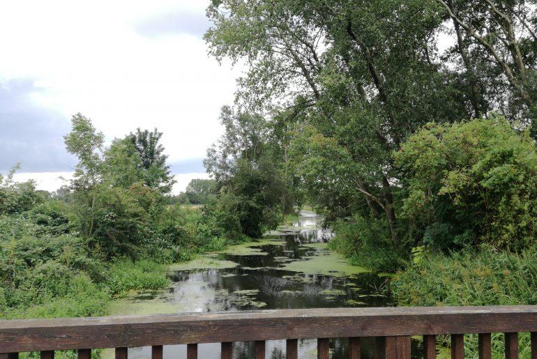 Brücke über die Bille am Eingang zur Boberger Niederung