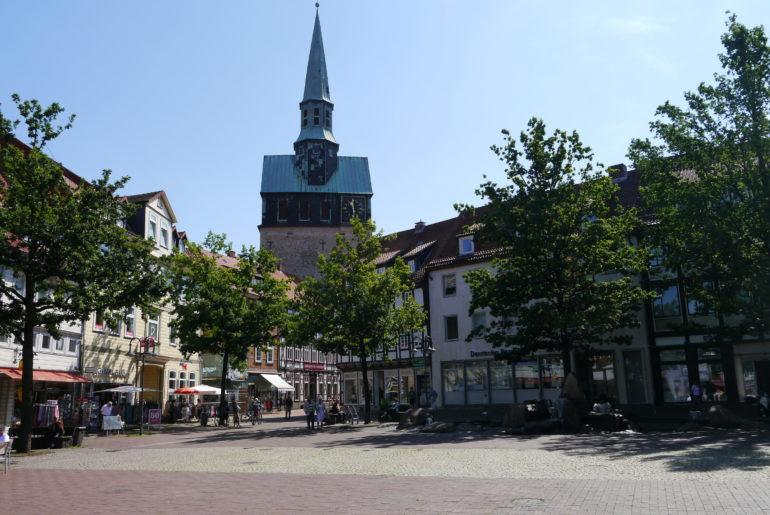 Kornmarkt und Marktkirche St. Aegidien